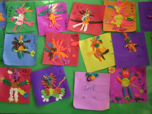 用玉米皮做画; 幼儿园瓜子皮粘贴画图片大全; 腾飞二班的vivi(红星园)
