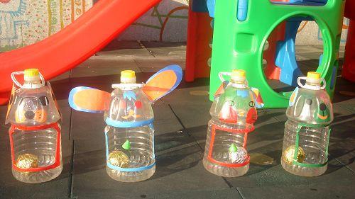 瓶子手工制作飞盘