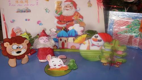 圣诞亲子手工制作; 幼儿园圣诞节手工作品欣赏;