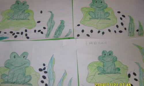 小蝌蚪找妈妈—粘贴画(天然园)