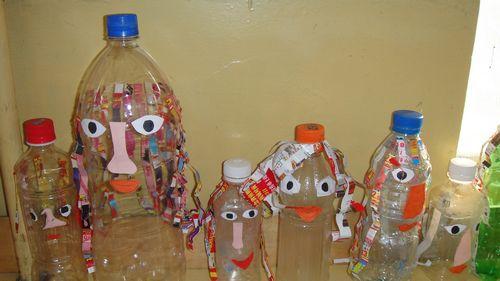 矿泉水瓶手工小制作-实用的猪猪储蓄罐图片
