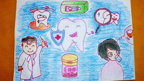 卡通幼儿护牙海报
