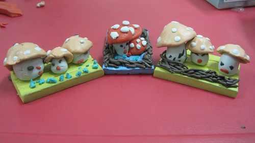 泥工蘑菇步骤图