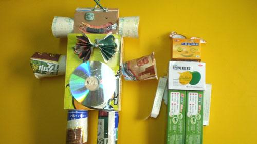 纸盒机器人手工制作步骤