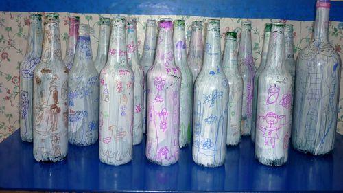 瓶子创意画(水木园)