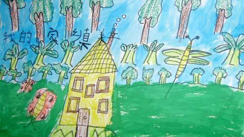 现在就用我的画笔为家乡画一幅画!