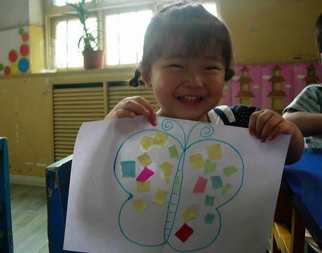 小孩画花步骤图解