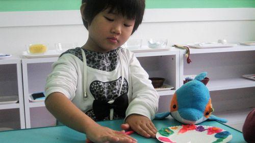 橡皮泥制作——纸盘装饰