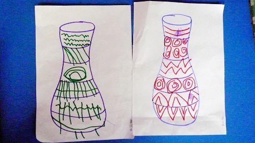 中班美术花瓶简笔画