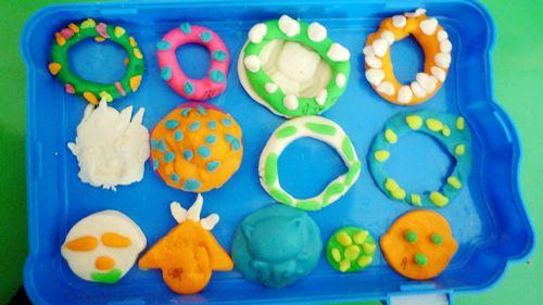 幼儿橡皮泥手工制作食物