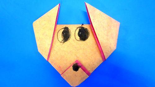 手工折纸动物鼻子步骤