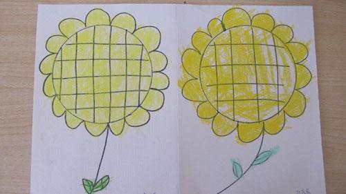 幼儿园的快乐生活——画向日葵(西焦园)