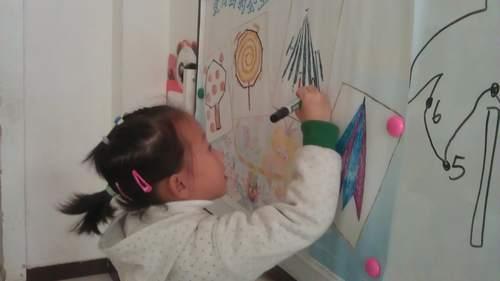 爱画画的公主,公主爱画画,我也爱画画,连出漂亮的线,画出了
