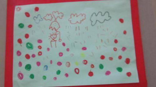 本月主题《伞花朵朵开》我们带领幼儿认识伞入手,引导幼儿观察伞的