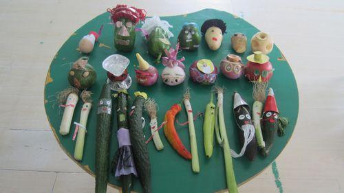 幼儿中班蔬菜派手工作品