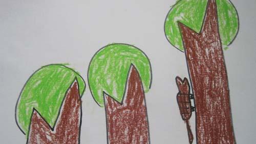 卡罗想让森林里的小动物们也能变换很多的颜色,卡罗把各种水果榨成