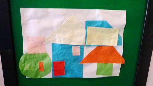 正方形拼出好看-然后漂亮的图形拼摆就出来了!你知道这幅画用了哪种图形吗?-拼拼