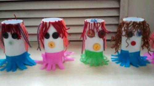 纸筒娃娃 - 未来强者婴幼儿智力开发园