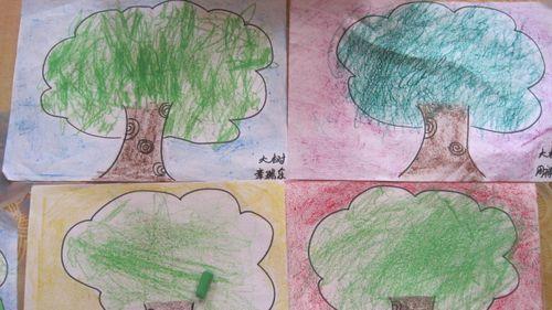 儿童画可爱的小树