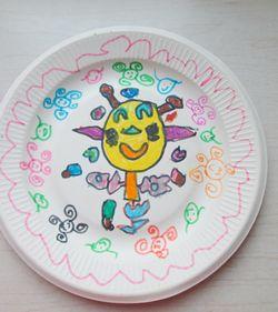 画在纸盘子上的图案分享展示