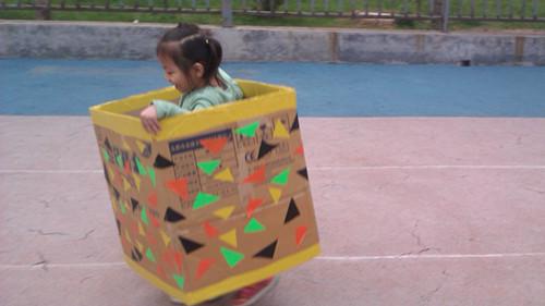纸箱做船图片步骤