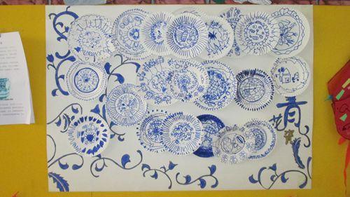 本节美术活动,孩子们用自己的小手绘制了漂亮的图片
