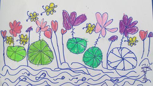 儿童荷花剪纸步骤图案