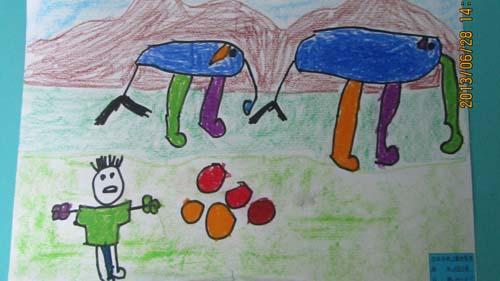 幼儿画春天的一幅画