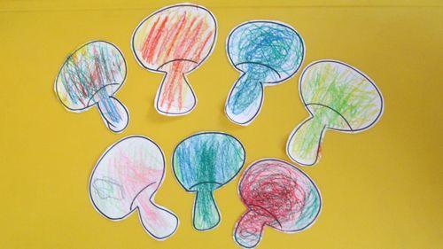 托班幼儿的绘画处于涂鸦期,在涂鸦的过程中会有一些独特的表现形式