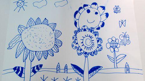矢量线条太阳花