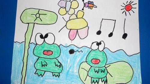 小青蛙 荷叶简笔画大全展示
