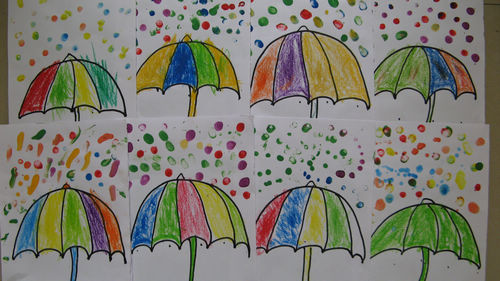 幼兒畫畫圖片大全下雨