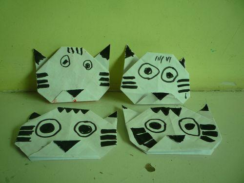 手工折纸 小猫