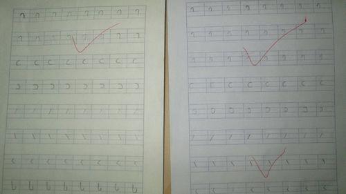 孩子们写的拼音基本笔画-认真的孩子们 金城园