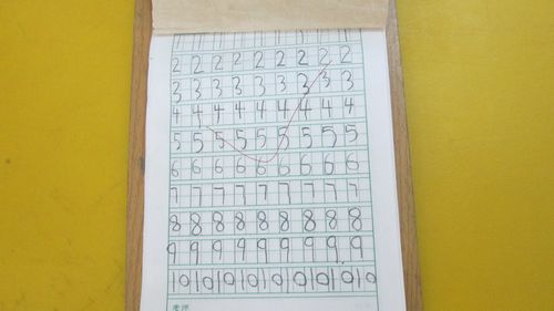 幼兒開始練習書寫阿拉伯數字圖片