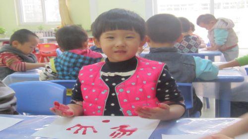 手掌印画-大树 - 未来强者婴幼儿智力开发园