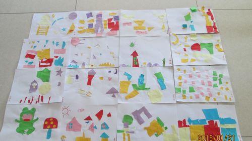 彩纸拼贴画 书香园