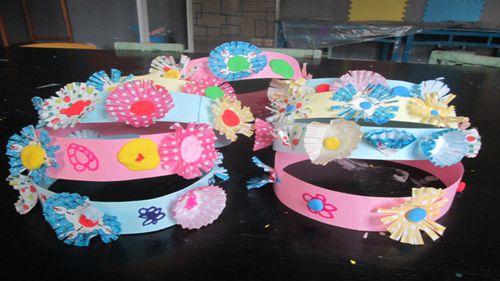 幼儿手工制作花环
