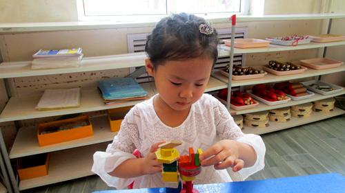 积木玩具的搭建是件细心全面的工作,一幢楼房需要几十块积木才能搭成