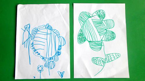 儿童创意线条画 害羞的花 (红星园) - 未来强者婴幼儿