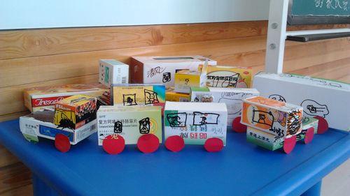 纸盒制作小汽车   选择大纸盒做汽车的身体   废旧纸盒手工制高清图片