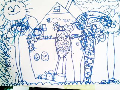教师节就要到了,未来强者世纪名园的孩子们用手中的画笔,绘画出了图片