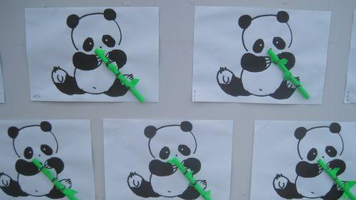 大熊猫吃竹子 - 未来强者婴幼儿智力开发园