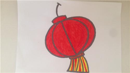 铅笔画房孑 灯笼