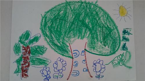 幼儿美术画大树